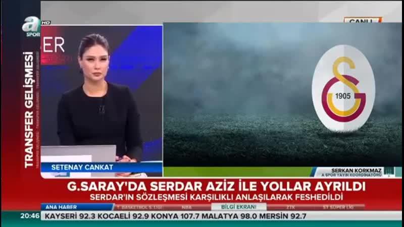 Serdar Azizin Sözleşmesi Feshedildi ¦ Galatasaray Transfer Gelişmeleri