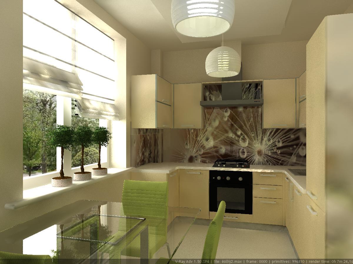 Ремонт кухни в 2 х комнатной квартире в панельном доме