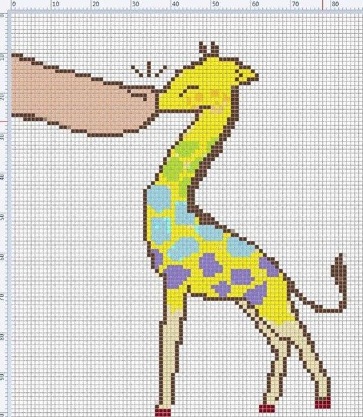 Моя любимая схема с жирафом