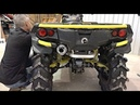 Slip on exhaust install CAN AM XMR 1000 RJWC EXHAUST