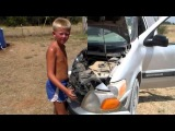 8 Year Old Mechanic Chevrolet Venture Headlamp Replacement  Homestead Kids