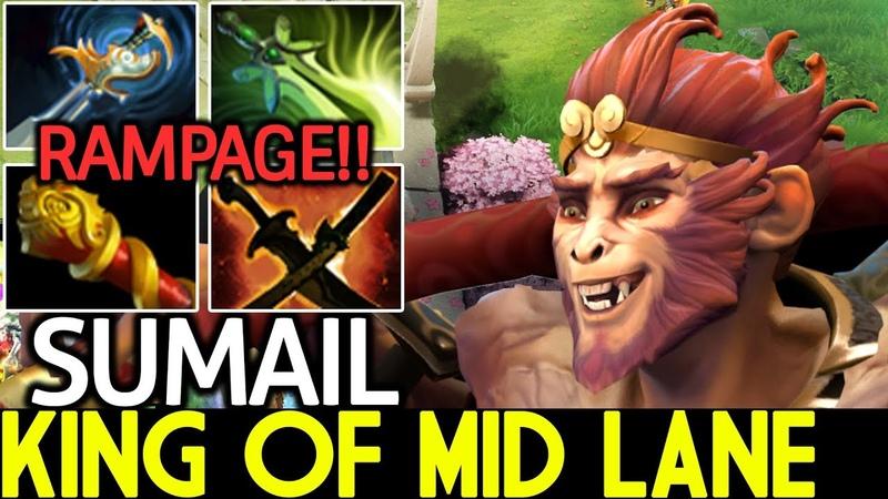 SumaiL [Monkey King] King of Mid Lane RAMPAGE Cancer Gameplay 7.20 Dota 2