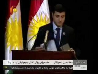 Axiftina birez Selahedin Demirtaş bi Zimane Kurdi u bi Ala Kurdistane 19.02.2012 - Hewler