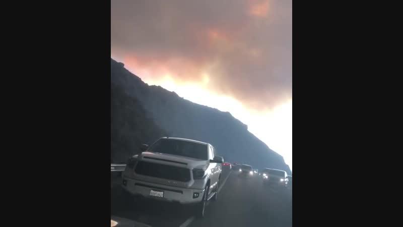 Пожар в Калифорнии 2018 Видео очевидцев