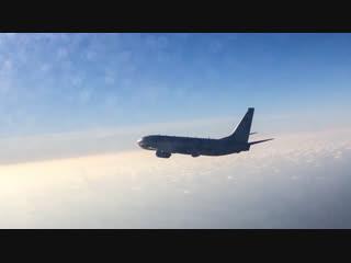Перехват самолета-разведчика ВВС США российским Су-27 над Балтийским морем