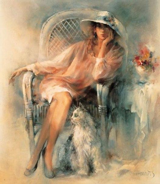 Романтичные картины от художника Willem Haenraets