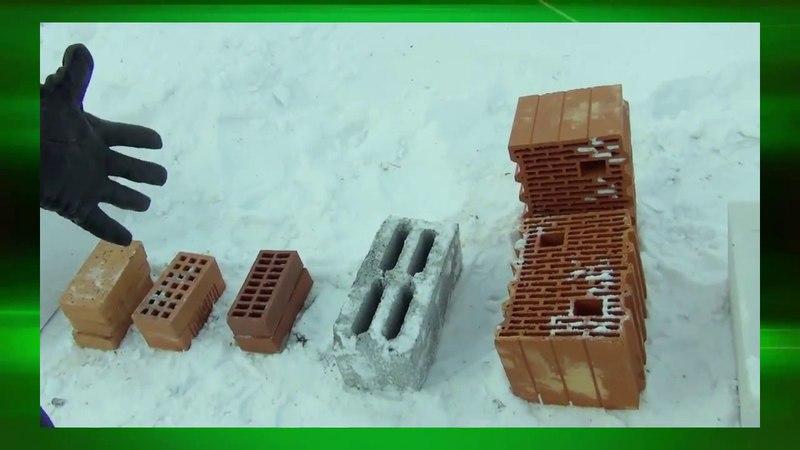 Стрельбы по стеновым блокам Теплостен