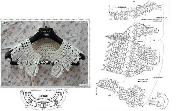 Крючок воротнички схема фото