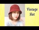 [Crochet] Vintage Hat | Móc mũ vành phong cách cổ điển 1