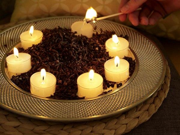 Композиция из свечей своими руками