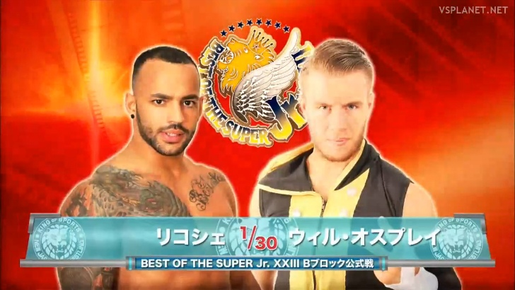 Ricochet vs Will Ospreay, NJPW Best of the Super Juniors 27.05.2016 (d6)