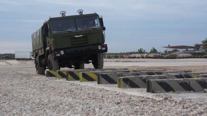 Tactical truck 4x4 MZKT-500200 trials