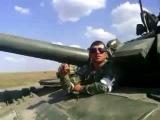 Колонна боевой техники России перед вторжением на Украину