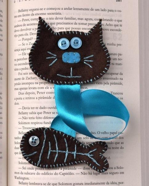 Закладка для книг своими руками из фетра