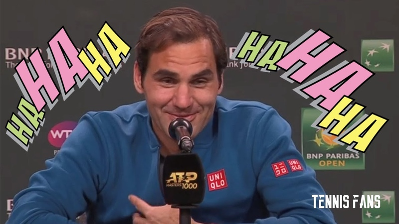 Roger Federer Better research next time, Buddy! HAHAHA - IW 2019 (HD)