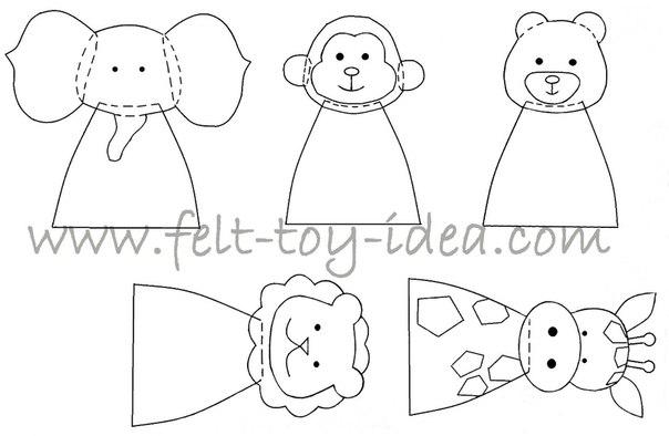 Шаблоны пальчиковых кукол из фетра своими руками 57