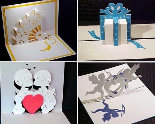 Объемные открытки подарки видео киригами
