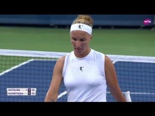 @SvetlanaK27 scoops out the forehand in todays shot of the day!
