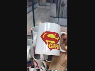 Кружка белая Супер Герл