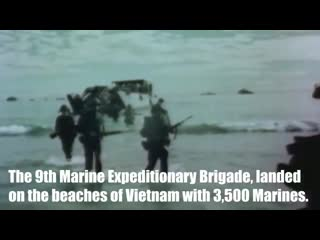 54 years ago, Marines were the first U.S. combat troops to land in Vietnam.