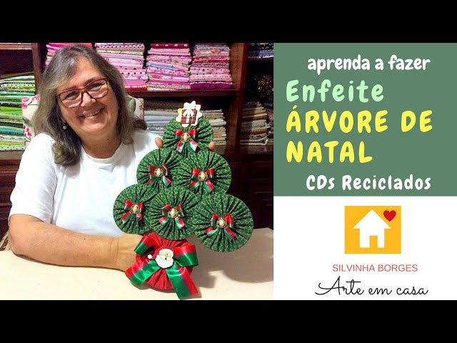 Preparando o Natal! Faça um lindo enfeite de Árvore reutilizando CDs