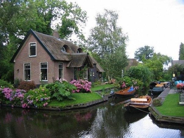 Голландская деревеня Гитхорн - деревня, где нет дорог