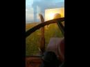 катаемся на карове и на тракторе в табуне