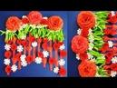 DIY. Simple Home Decor. Wall, Door Decoration. Hanging Flower. цветы из бумаги. Paper Craft Ideas 12