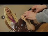 Very Ticklish Blonde Double Stocked