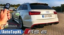 720HP Audi RS6 Avant Elmerhaus REVIEW POV Test Drive on AUTOBAHN by AutoTopNL