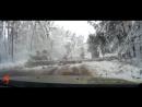 Снегопад Воронеж 22 11 2017 Упало дерево на дорогу