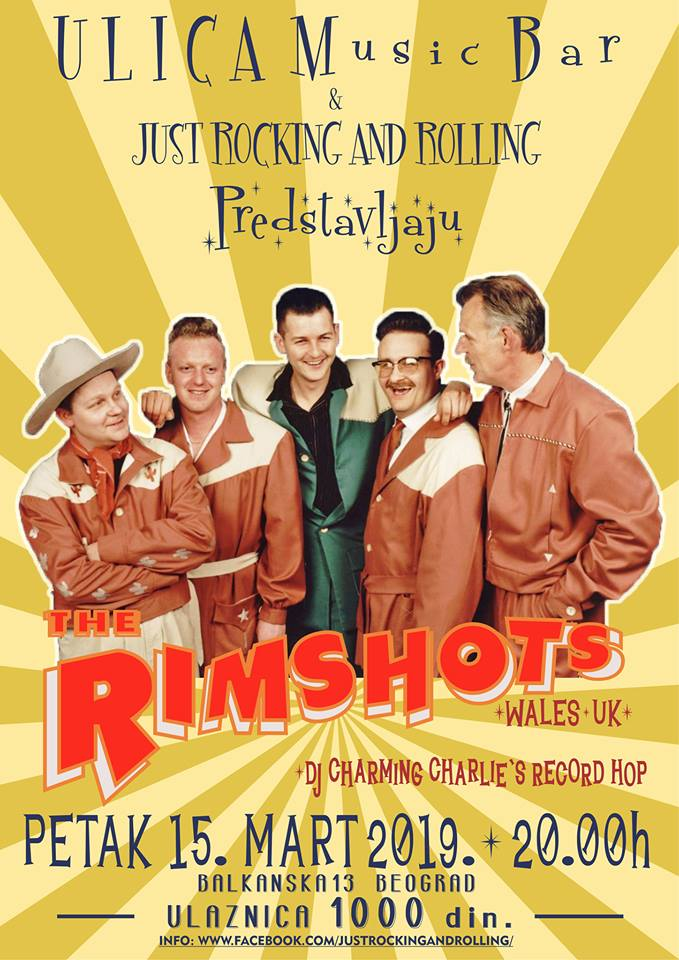15.03 The Rimshots в Ulica Music Bar!