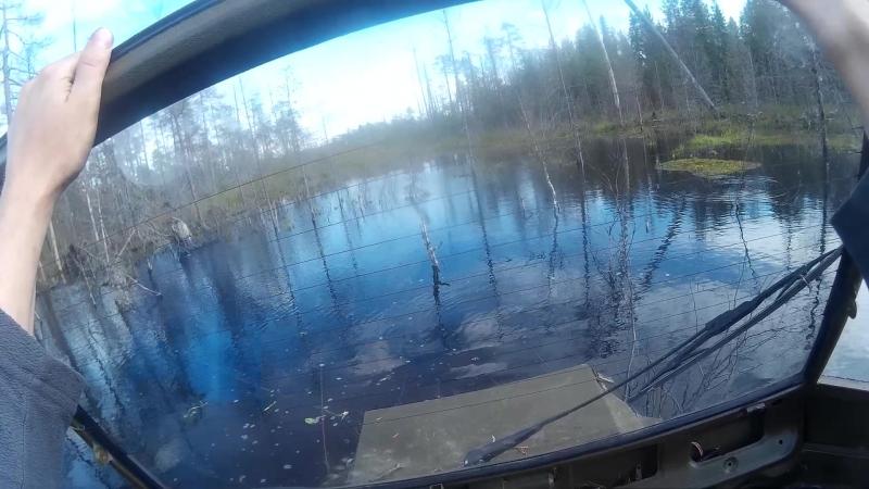Гусеничный вездеход Ондатра через ручей