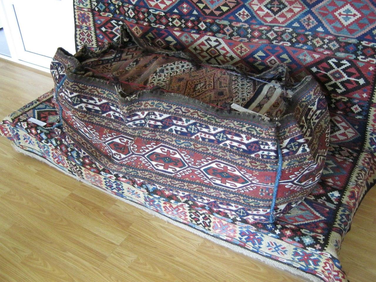 Старинный мешок для постели в музее Ванадзора