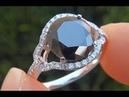 Fancy Exotic Black Diamond Engagement Wedding Ring 18K Gold - AUCTION