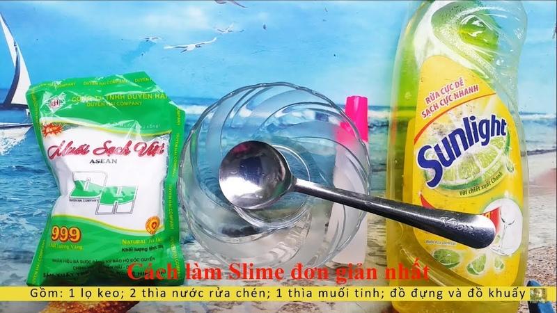 Hướng dẫn làm Slime Vàng Óng từ nước rửa chén Sunlight, muối 100% thành công | Sun Day TV | 4K
