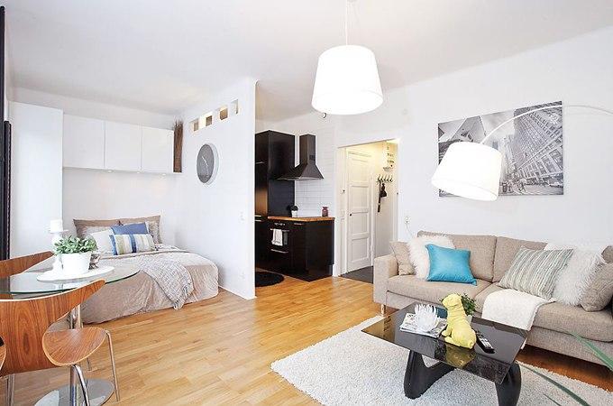 Интерьер квартиры-студии 29 м в Осло / Норвегия - http://kvartirastudio.
