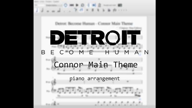 Detroit: Become Human - Connor Main Theme (piano arrangement)