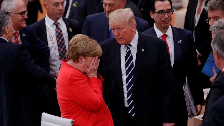 Welt: «поцелуйчик» Меркель не остановил торговую войну с США