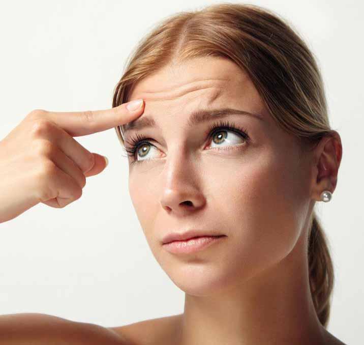 Подъем лба может быть сделан для человека, которому не нравятся морщины на лбу