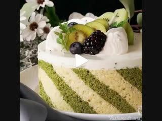 Йогурто-муссовый торт с киви   Больше рецептов в группе Десертомания