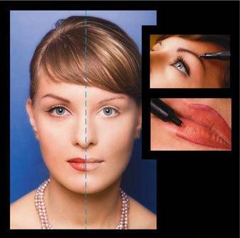 Перманентный макияж век эффект теней