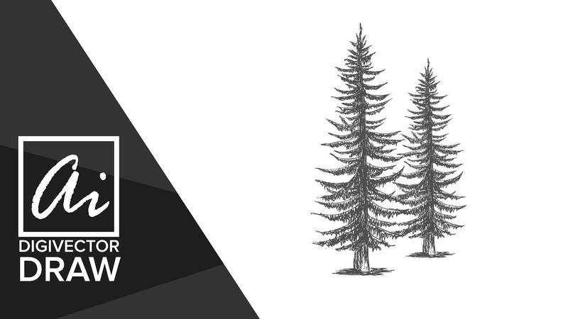 How to draw tree in illustrator [] Illustrator tutorial [] [] Digital drawing []