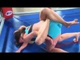sexy female wrestling match Jenny vs Zsuzsa
