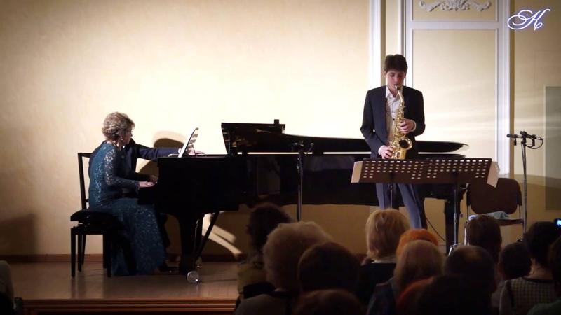 Георги Джишкариани - Дариус Мийо - Сюита для саксофона и ф-но «Скарамуш» часть 1