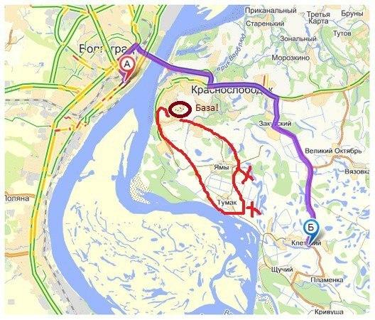 Примерная схема маршрута..