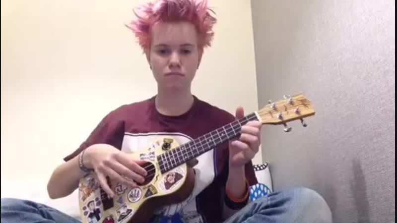 D:BH intro theme on ukulele с грустным ебалом