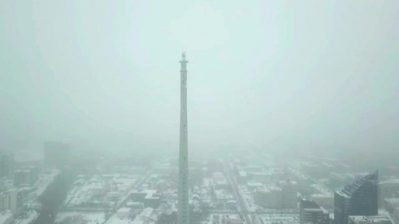 ТВ-башня Екатеринбург, 1 день до сноса. Снегопад