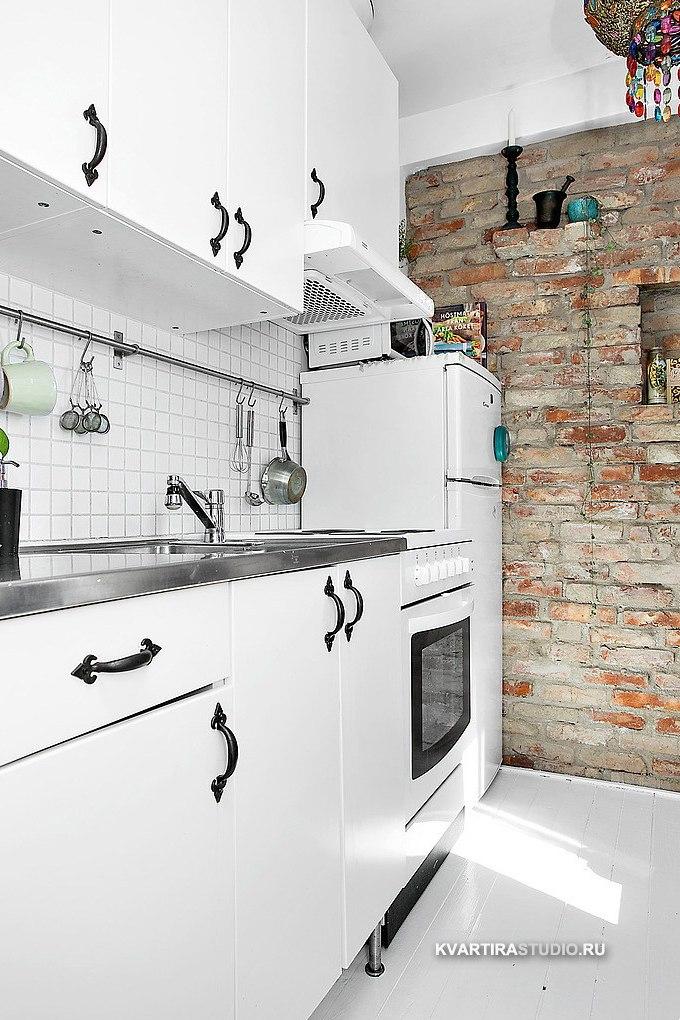 Восточные мотивы в интерьере квартиры 26 м в Гётеборге / Швеция - http://kvartirastudio.
