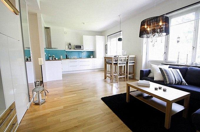 Интерьер квартиры-студии 35 м в Стокгольме / Швеция - http://kvartirastudio.